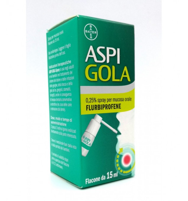 Aspi Gola Spray 15ml 0,25%